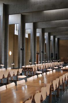St Catherine& College, Oxford by Arne Jacobsen - cate st hill - Modern Scandinavian Interior, Scandinavian Architecture, Interior Architecture, Arne Jacobsen, St Catherine's College, College Hats, Georgia College, Column Design, Commercial Architecture