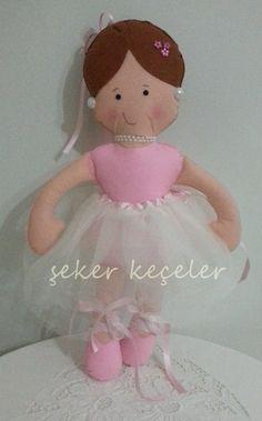 Keçe Balerin Bebek Feltro ballerina bebê
