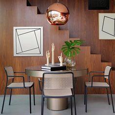 Tom Dixon Copper Pendant & Kartell Chairs | Shop all at Domésticoshop.com