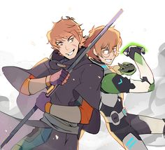Pidge and her brother, Matt Holt team up to work together as one from Voltron Legendary Defender