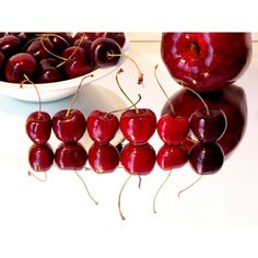 Desktop backgrounds Backgrounds Foods Cherry Fruit desktop background... ❤ liked on Polyvore