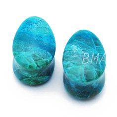 Build your own chrysocolla plugs. Stunning hue.