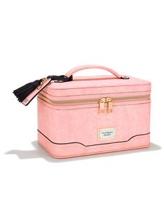 "Train Case $48 Perfect for makeup, brushes, jewelry and other beauty essentials 9½""L x 5""W x 6""H"