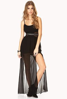 Striking M-Slit Maxi Dress Nye Dress, Maxi Dress With Slit, Chiffon Maxi Dress, Dress Skirt, Dress Up, Rave Festival Outfits, Online Dress Shopping, Forever 21 Dresses, Beautiful Dresses