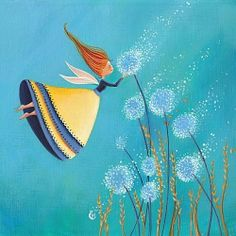 Plant seeds of happiness, hope, success, and love; it will all come back to you in abundance. This is the law of nature. ~ Steve Maraboli ~ Image by Marie Cardouat Marie Cardouat, September Pictures, Art Fantaisiste, Art Mignon, Hello September, Dandelion Wish, Art Et Illustration, Flower Fairies, Whimsical Art