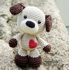 Sammy the Puppy - crochet - amigurumi. (Pattern available to purchase).