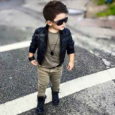 Boys fashion love the leather jacket