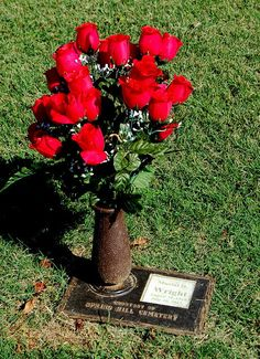 """Kitty Wells (1919 - 2012) - Singer, Songwriter. Born Ellen Muriel Deason, her 1952 hit recording, """"It Wasn't God Who Made Honky Tonk Angels"""", made her the first female country singer to top the U.S. country charts. Spring Hill Cemetery  5110 Gallatin Road Nashville Davidson County Tennessee  USA"""