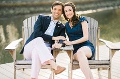 Preppy Styled Engagement Shoot at Magic Hour | Shannon Moffit Photography on @tidewatertulle via @aislesociety