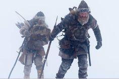 Skiing in the Viking Age A few years ago archaeologists made a breath-taking find: a 1300-year old ski with the binding intact. Last year the skis were reconstructed. Now they have been tested. | Jakob Oftebro og Kristofer Hivju i Birkebeinerne web