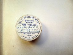 Vintage Pill Box Chemist's Pharmacy Perscription by antiquissimo, $12.00