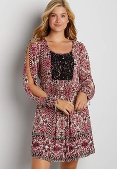 peasant dress with open sleeves   maurices
