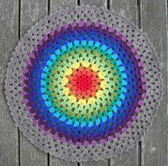 20 Popular Free #Crochet Patterns to Try Today - granny mandala