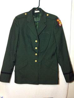 Womens US Army Officer Class A Uniform Jacket 12 WR, 143rd Sustainment Patch #USArmy #DressUniformClassA