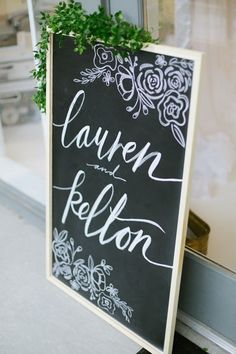 Gallery: Calligraphy chalkboard sign via J.Taylor Photography - Deer Pearl Flowers / http://www.deerpearlflowers.com/reception-decor/calligraphy-chalkboard-sign-via-j-taylor-photography/
