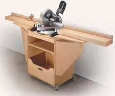 miter saw table. love how compact this one can become. #woodworkingbench #mitersaw