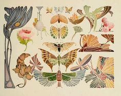 Art Nouveau design | Sandie Goble's Printable Heaven Blog: Beautiful Art Nouveau Designs