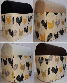 Check out this item in my Etsy shop https://www.etsy.com/listing/157379258/quilted-yellow-chickens-roosters-cover