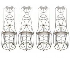 4 Iron Chairs by John Risley #Chairs #John_Risley