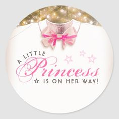 Little Princess is on Her Way Baby Shower Classic Round Sticker ❤ Affiliate ad link. Fun baby shower invites - customize your invitations. Baby Shower Thank You, Baby Shower Fun, Floral Baby Shower, Baby Shower Favors, Baby Shower Parties, Baby Shower Decorations, Fun Baby, Baby Stickers, Round Stickers