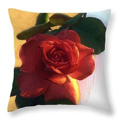 """Here's a beautiful rose for a throw pillow. """"Desire in Coral"""" © 2010 RC deWinter Available in in a variety of sizes and other media as well."""