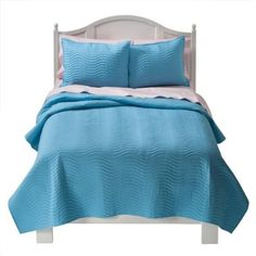 This is similar to the blue quilt and sham we ended up with in the boys' room.  Ours is from HomeGoods.