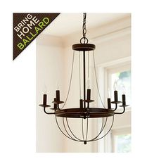 Lourdes 8 Light Chandelier; OBSESSED with our new chandelier completes our dining room especially with the farmhouse table :)