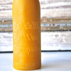 Catskill Candle:  Beeswax Candle, Pillar Candle, Antique Bottle Candle, New York,  Catskill Bottling Company, Borscht Belt, Hostess Gift