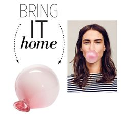 """Bring It Home: Bubblegum Paperweight"" by polyvore-editorial ❤ liked on Polyvore featuring interior, interiors, interior design, hogar, home decor, interior decorating, Esque Studio y bringithome"
