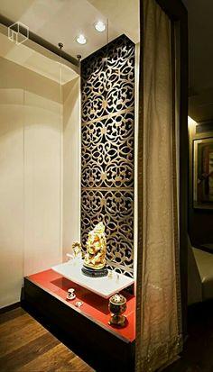 pooja jali mandir cnc wall ceiling laser cutting false puja cut indian bedroom temple door corner living decor rooms shelf