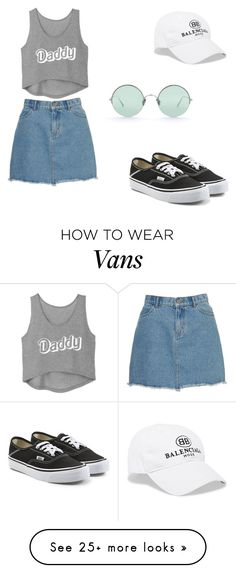 """""""have fun outfit"""" by luuwhite on Polyvore featuring Issa, Balenciaga, Vans and Sunday Somewhere"""
