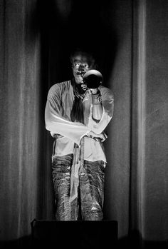 Miles Davis, 1969 Guy Le Querrec Paris, 8th arrondissement. Miles Davis at the Salle Pleyel concert hall. (for Magnum photos)