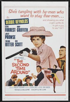 The Second Time Around Stars: Debbie Reynolds, Steve Forrest, Andy Griffith, Juliet Prowse, Thelma Ritter ~ Director: Vincent Sherman Old Movies, Vintage Movies, Thelma Ritter, Older Bride, Film Genres, Debbie Reynolds, Western Film, Hollywood Boulevard, Original Movie Posters