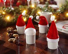 10 Mini-Deko-Weihnachtsmannmützen Weihnachtsmützen Weihnachtsdeko Adventdekoca. 11 cm hoch H&B http://www.amazon.de/dp/B00O1TPL28/ref=cm_sw_r_pi_dp_ea6pwb1MFVZKY