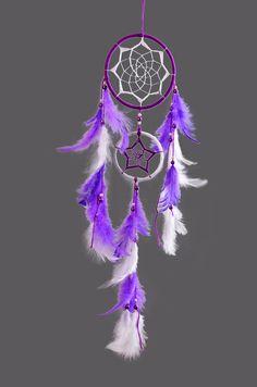 Purple and white dreamcatcher