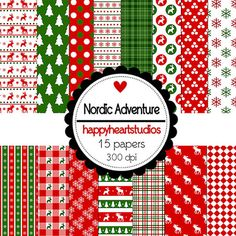 Digital ScrapbookingNordicAdventureInstantDownload by azredhead