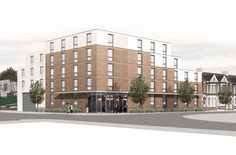 Green light for new hotel at Elm Road, Wembley - Dexter Moren Associates Hotel Architecture, Hotel Branding, Planning Permission, London Hotels, Dexter, Multi Story Building, Interior Design, Places, Facade