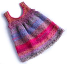 free knitting pattern for 12 mos, 24 mos, 2 yrs, child size 4 - Sweet Sweater Dress