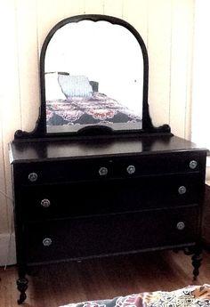 1920s Original Antique Dresser with Mirror by vagabondsandcaravans, $495.00
