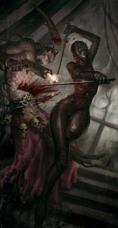 Warhammer 40k by Imaginary Friends Studios , via Behance