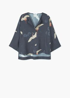 Printed blouse from Mango :: Buy from Mango Clothes on The UK High Street Cool Outfits, Casual Outfits, Fashion Outfits, Free T Shirt Design, Look 2018, Printed Blouse, Pattern Fashion, Blouses For Women, Clothes