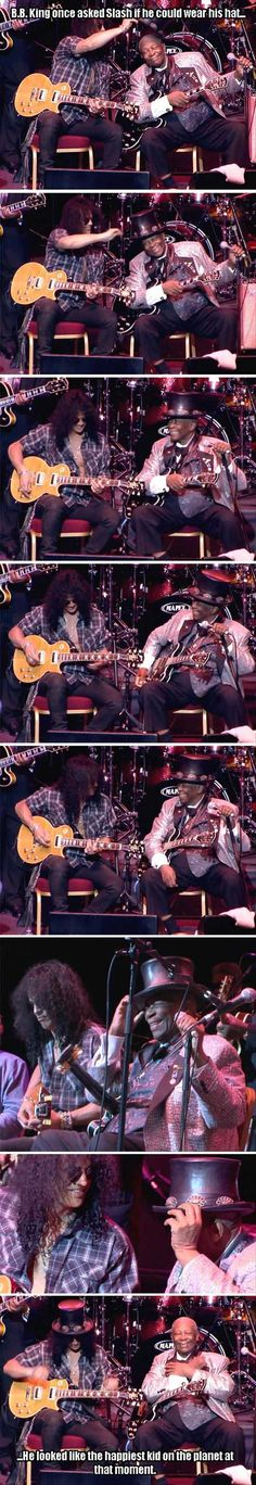 Only BB King Couldve Gotten The Hat Off Slash From Guns N Roses - Posted by GABRIEL LORDEN
