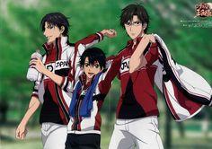 Atobe Keigo, Echizen Ryoma and Tezuka Kunimitsu, New Prince of Tennis Son Geniales