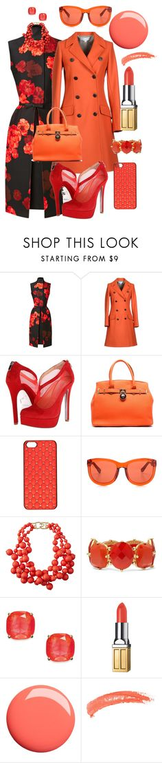 """Orange Brulée"" by sisilem ❤ liked on Polyvore featuring Giambattista Valli, Paul & Joe, Chinese Laundry, River Island, The Row, Kenneth Jay Lane, Kate Spade, Elizabeth Arden and Topshop"