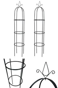 Metal Plant Obelisk Set Roses Climbing Plants Support Pair of 2 Iron Arch Towers Backyard Pergola, Pergola Plans, Patio, Climbing Plant Support, Plant Supports, Retractable Canopy, Hanging Plants, Planters, Contemporary