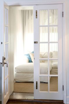 """""""I would love to see large French doors as room dividers separating rooms come back once again.""""—Tisha Leung, Design Editor"""