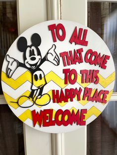Wooden Door Hangers, Wooden Doors, Christmas Candy, Christmas Decorations, Calligraphy Signs, Peppermint Candy, Colour Board, Disney Crafts, Disney Quotes