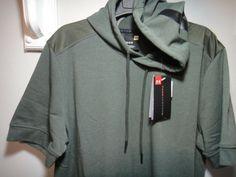a5dfe1b7200c Under Armour Mens Threadborne Short Sleeve Hoodie Color Green Size LG