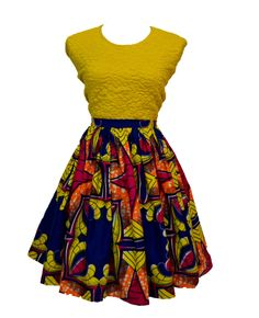 Meet Imani! Our latest gathered skirt with a fitted waist band. Ankara everyday!