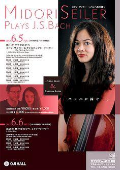 ミドリ・ザイラー バッハの二夜 Concert Flyer, Recital, Layout, Music, Poster, Design, Musica, Musik, Page Layout